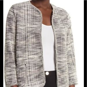 Max Studio Plus Cream Tweed Jacket